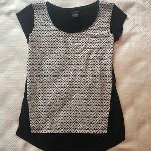 Ann Taylor Shirt.  Black and White.  Size XS.